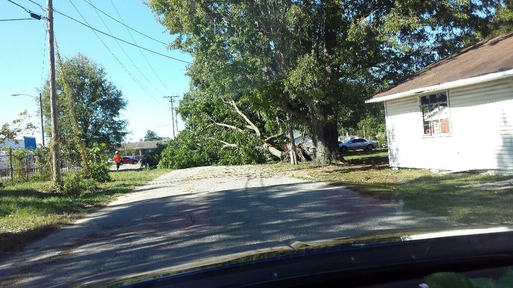 This was what the after affects from Hurricane Matthew in the Bennettsville area of South Carolina