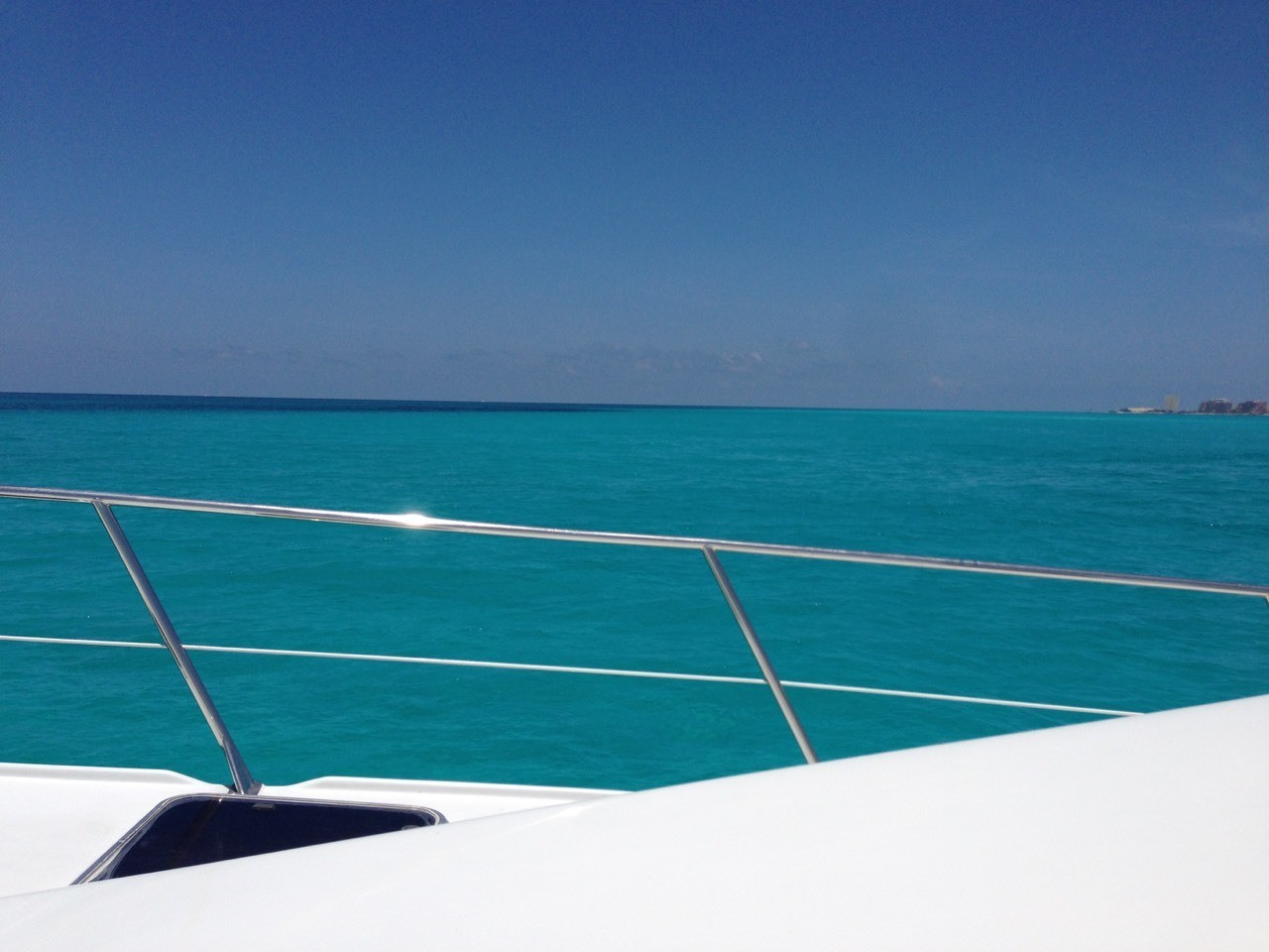 The ride over from Cancun to Isla Mujeres