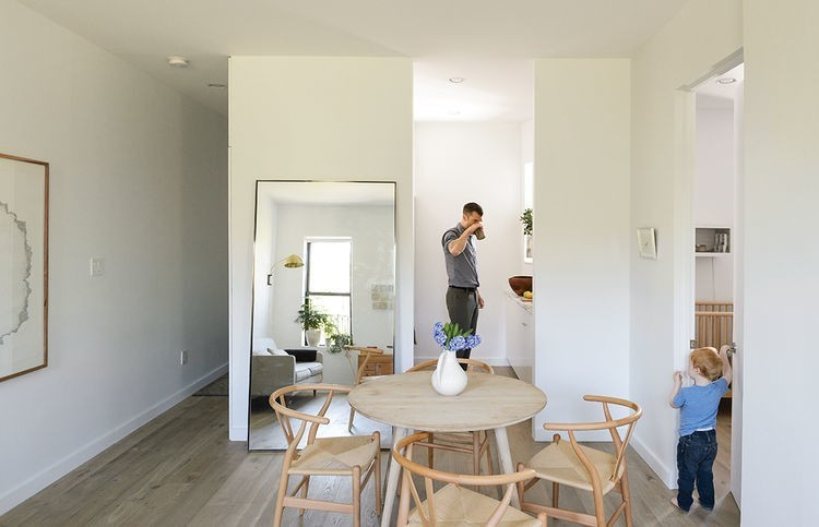 Articles about how one family three does it all 675 square feet on Dwell.com - Dwell