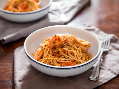 Shrimp Fra Diavolo (Spaghetti With Spicy Tomato Sauce) Recipe