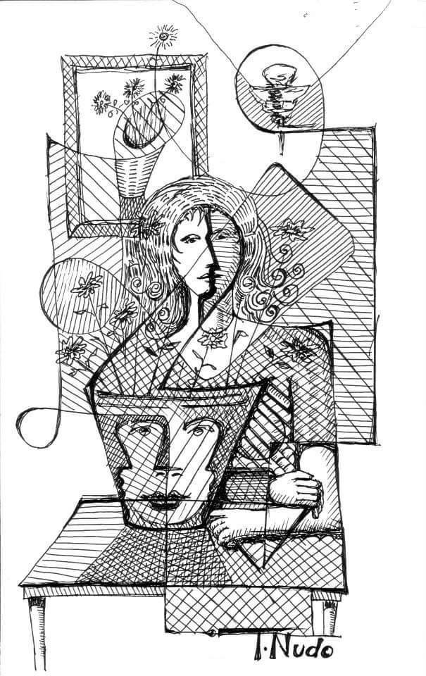 T.Nudo Round Cubism Drawings - Magazine cover