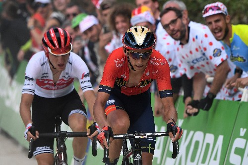 Ciccone turns blue into yellow on Tour de France debut