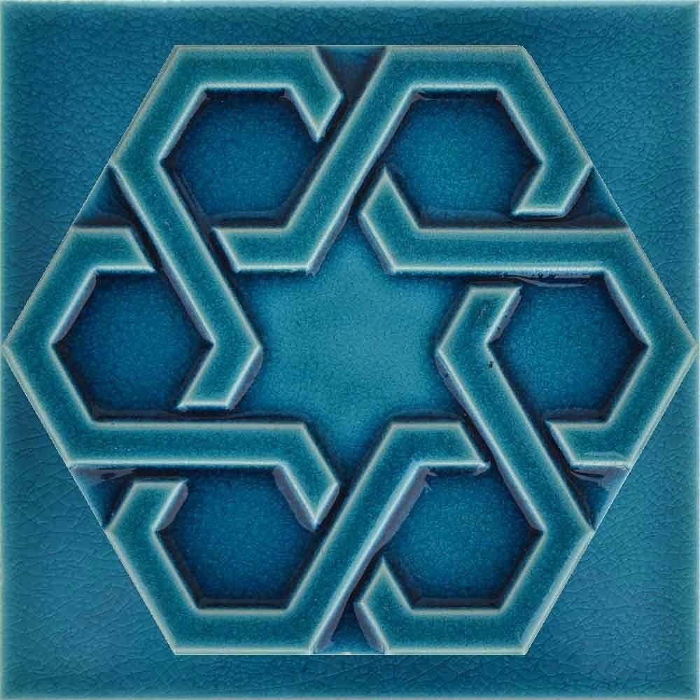 Altigen Porselen Çini karo dekorasyon çeşitleri Hexagon tiles  - Magazine cover