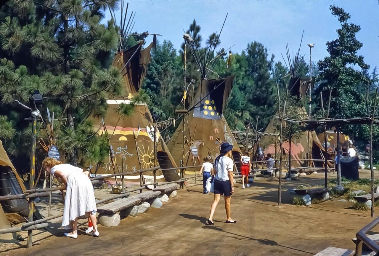 Daily Vintage Disneyland: Indian Village in Disneyland's Frontierland from 1959 #disney #disneyland #frontierland