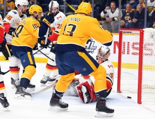 NHL roundup: Predators tie it in last second, beat Flames in OT
