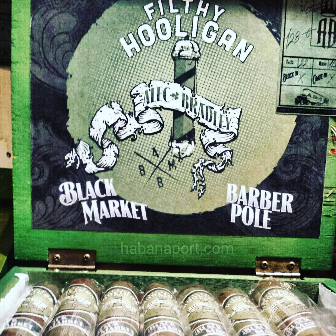 The Alec Bradley Filthy Hooligan 2016 cigar has a barber pole wrapper for the first time. Celebrate St. Patrick's Day in style. Get it quickly as this is a limited batch. www.habanaport.com