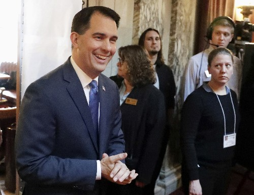 Wisconsin's Walker tries to alter conversation amid bad news