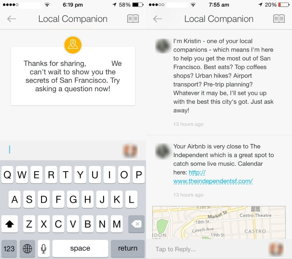 Airbnb Testing In-app Concierge Feature