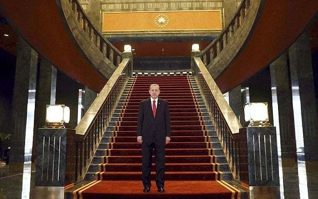 Turkey's president moves into world's biggest palace costing £384 million