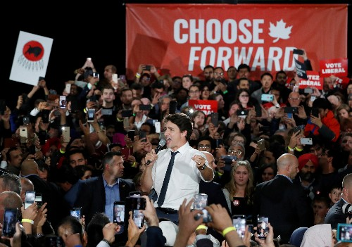 Canada's Trudeau, main rival exchange attacks as campaign grinds to an end