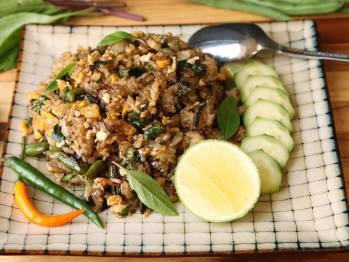 Fried Rice With Blistered Green Beans and Basil Recipe