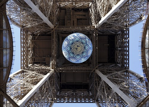 Earth Crisis Artwork by Shepard Fairey Displayed at Eiffel Tower: Pictures