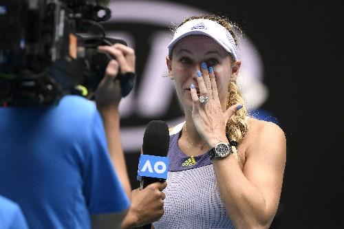 Bittersweet: Caroline Wozniacki's career ends in Australia