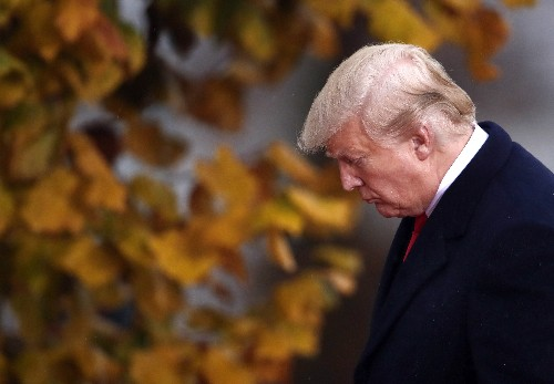 The Latest: Trump pays tribute to Americans who died in WWI