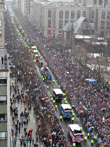 Patriots Super Bowl Parade in Pictures