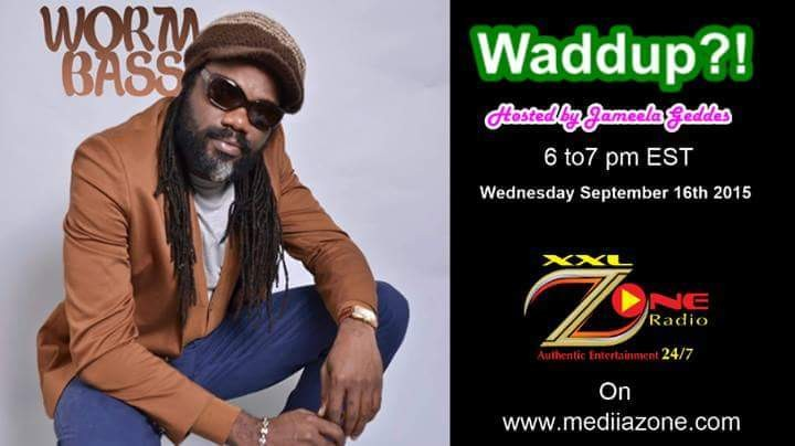 This Wed. tune in for an interview with WORMBASS on the Waddup?! show hosted by Jameel Geddes this Wed. Sept. 16th from 6:00 to 7:00 pm EST. Tune in to the Mediazone Facebook Page miss it! Only You by Delroy WormBass