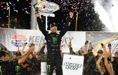 NASCAR notebook: Late caution erases Logano's chance at winning