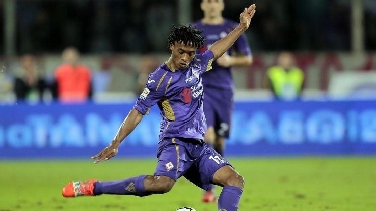 Chelsea-bound Juan Cuadrado says goodbye to Fiorentina supporters