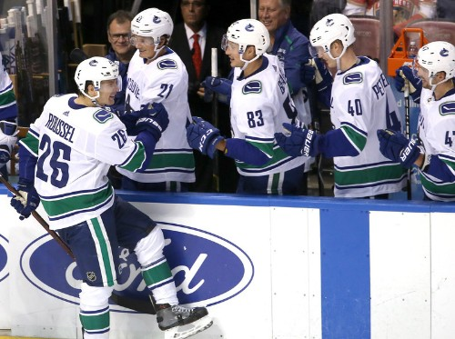 Horvat's go-ahead goal lifts Canucks past Panthers