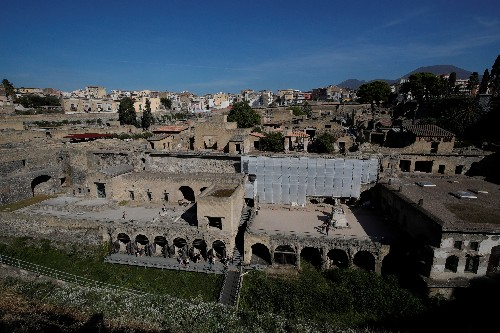 Ancient Roman home reopens in Herculaneum after 36-year wait