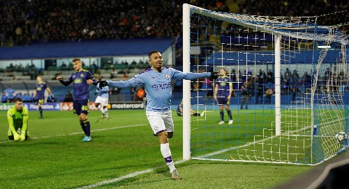 Jesus hat-trick gives Man City 4-1 win at Dinamo