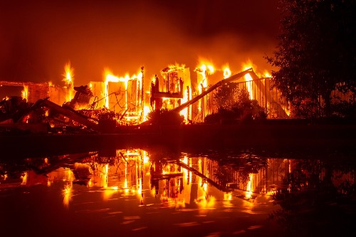 Otherworldly Views of the California Wildfires: Pictures
