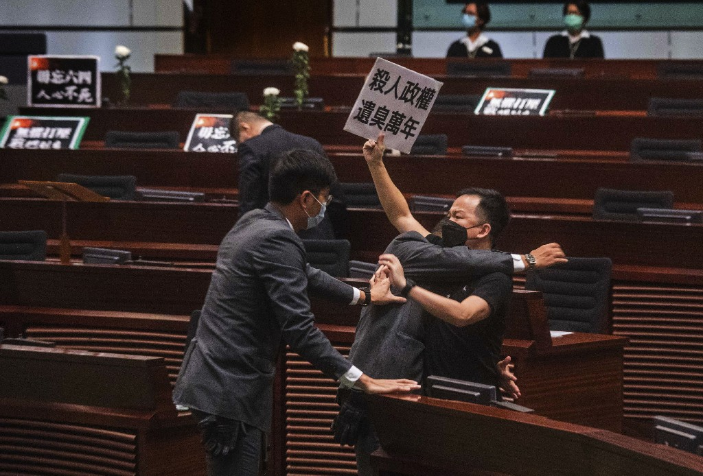Hong Kong outlaws insulting China's national anthem