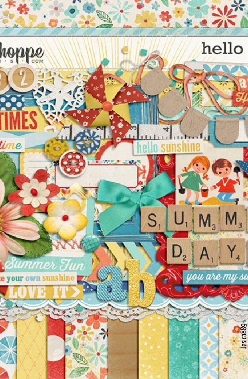Un scrapbook que imbita a veranear, puedes hacer tu propio scrap de verano y pegarlo como recuerdo donde quieras!