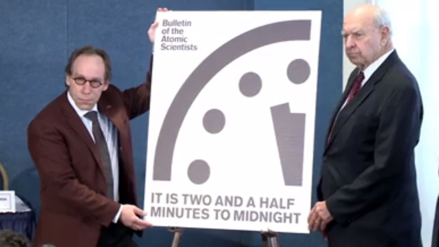 The Doomsday Clock Is Now 30 Seconds Closer To Midnight