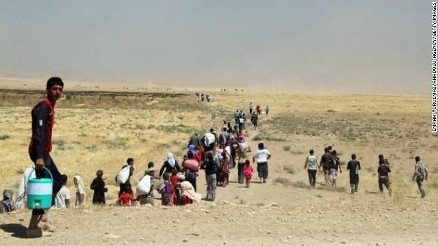 Officials: U.S. airstrikes pound ISIS militants firing at Iraq's Yazidis