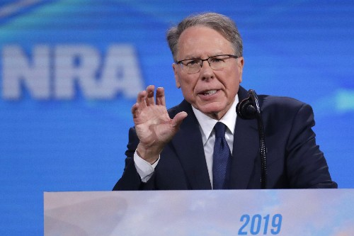 Infighting erupts at NRA convention, threatening leadership