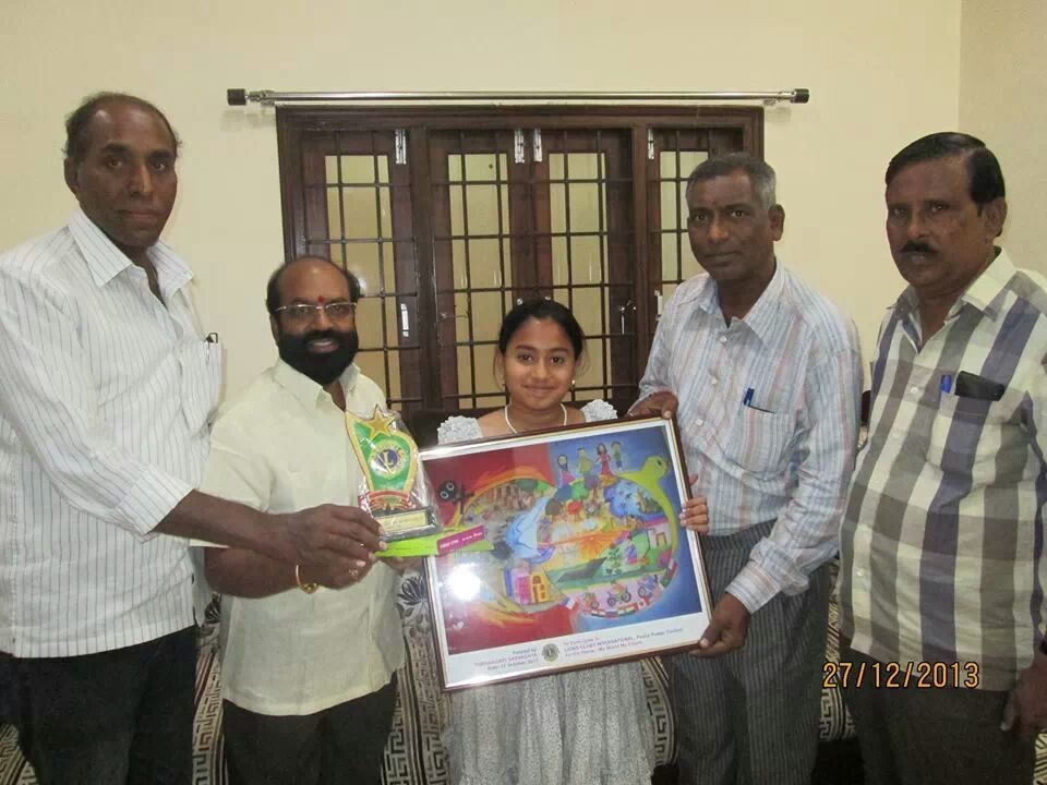Lions club of karimnagar With Peace post contest multiple winner