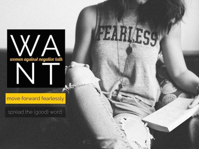 Women Against Negative Talk - Magazine cover
