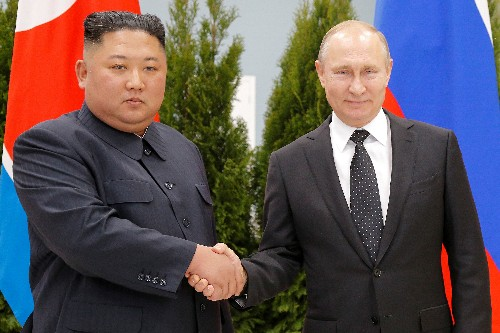 Spurned by U.S., North Korea's Kim holds talks with Putin