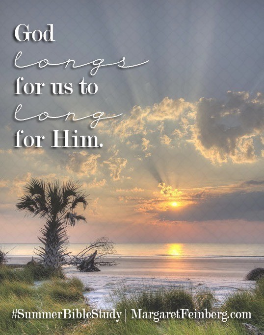 """""""God longs for us to long for him. In the beauty of his presence, we can't help but find our affections set on God, our hearts captivated by his love."""" –Margaret Feinberg, Pursuing God's Beauty: Stories from the Gospel of John - See more at:"""