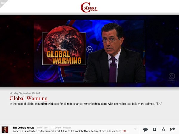 Feel the News Along With Stephen Colbert