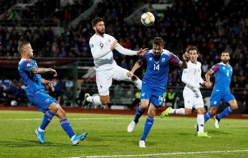 Giroud puts injury-hit France on the brink of Euro 2020