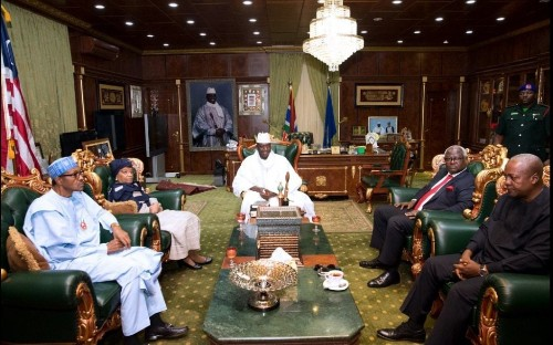 West African leaders arrive in Gambia to convince Yahya Jammeh to step down, as security forces take over electoral commission building