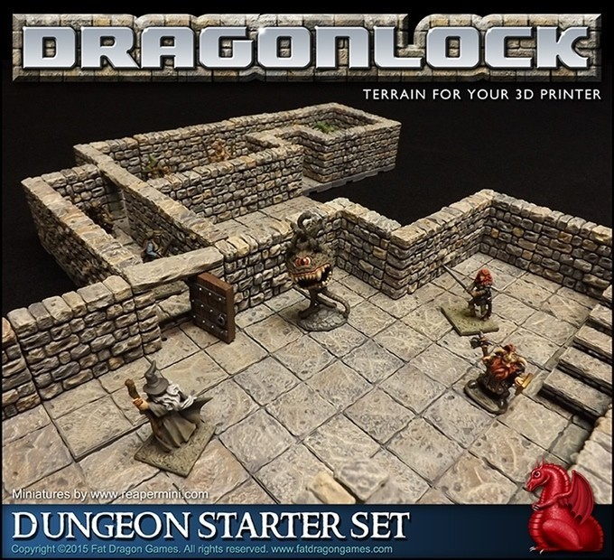 Dragonlock Lets You Print Your Own RPG Dungeons