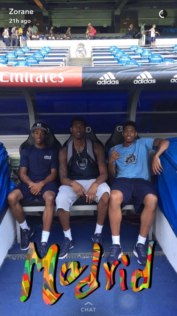 Me Randy Ahmad again in Real Madrid's stadium