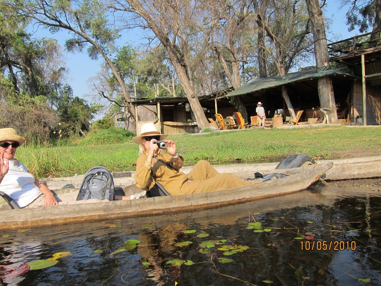 Here we are ready to go off into the bush on our Makoro's (a long canoe that is used to navigate along the Okavango)!