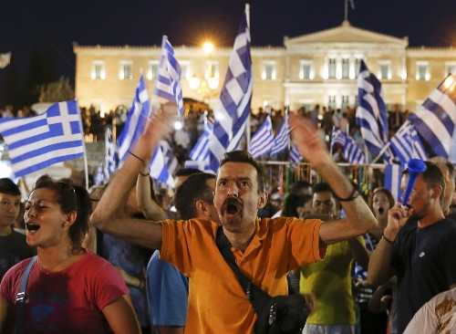 Greece Votes NO on Bailout: Pictures