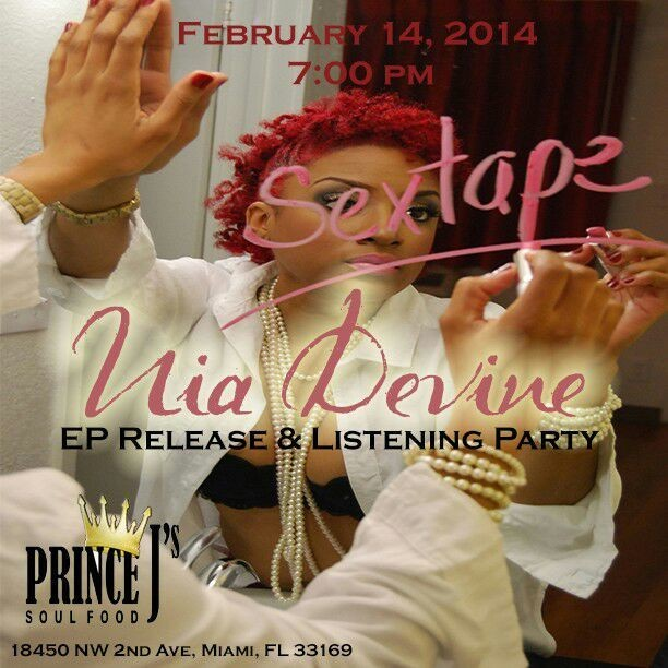 @PrinceJ'sSoulFood February 14, 2014 @NiaDevine1 is releasing her highly anticipated #SextapeEP which will be available for download via iTunes #NiaIsDevine #H2CC #VGBENT