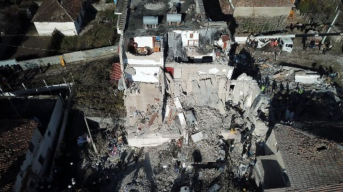 Albanian earthquake kills 16; rescuers hunt for survivors