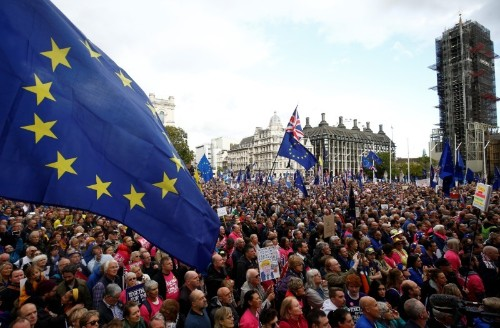 'We are voiceless': Hundreds of thousands protest in London for new Brexit vote