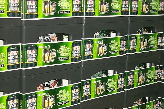 Crate sleeving for InBev Becks Germany