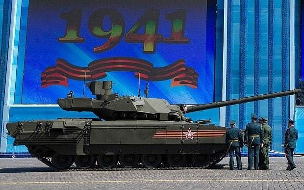 Putin's new tank designed to 'outclass the West' breaks down