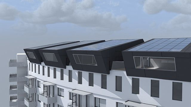 These Rooftop Solar Panels Double As Extra Housing For Crowded Cities