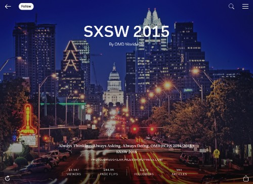 Flip, Inspire, Engage: Check Out OMD's SXSW 2015 Magazine