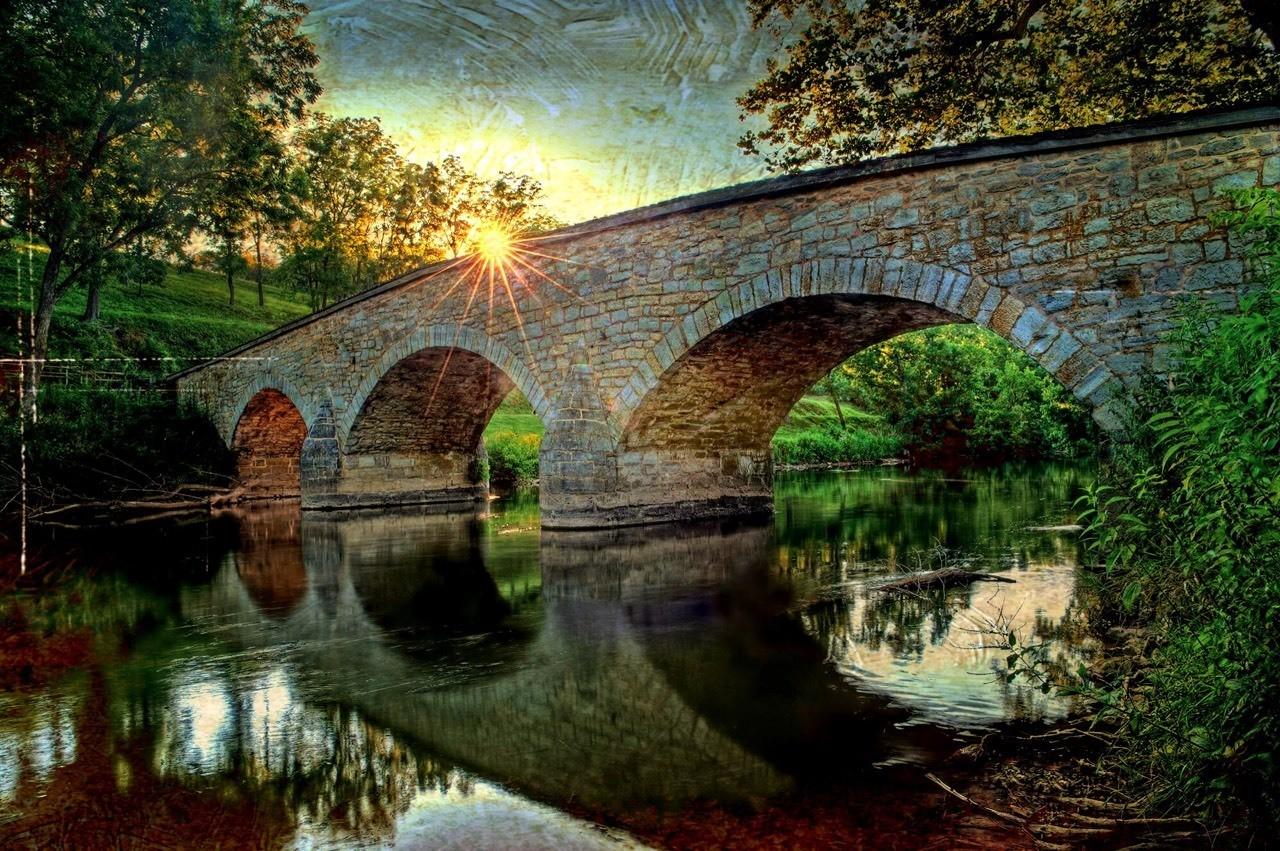 Burnside Bridge #civilwarhistory Distressed FX July 2012 Sharpsburg MD